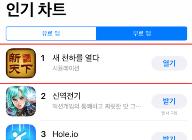 '새 천하를 열다' 애플 앱스토어 7월 인기 차트 1위 달성